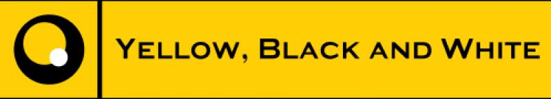 Картинки по запросу Yellow, Black and White logo